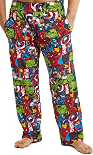 MARVEL Mens Pyjamas, Avengers Lounge Pants Men with Captain America Iron Man Thor and Hulk, 100% Cotton Nightwear Mens Pjs...