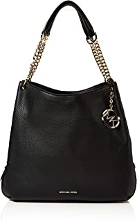 Michael Kors 30H8G0LE3L-001 Women's Canvas Beach Tote Bag, Black