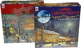 Ceaco Thomas Kinkade Jigsaw Puzzle Bundle - A Christmas Story & National Lampoon's Christmas Vacation