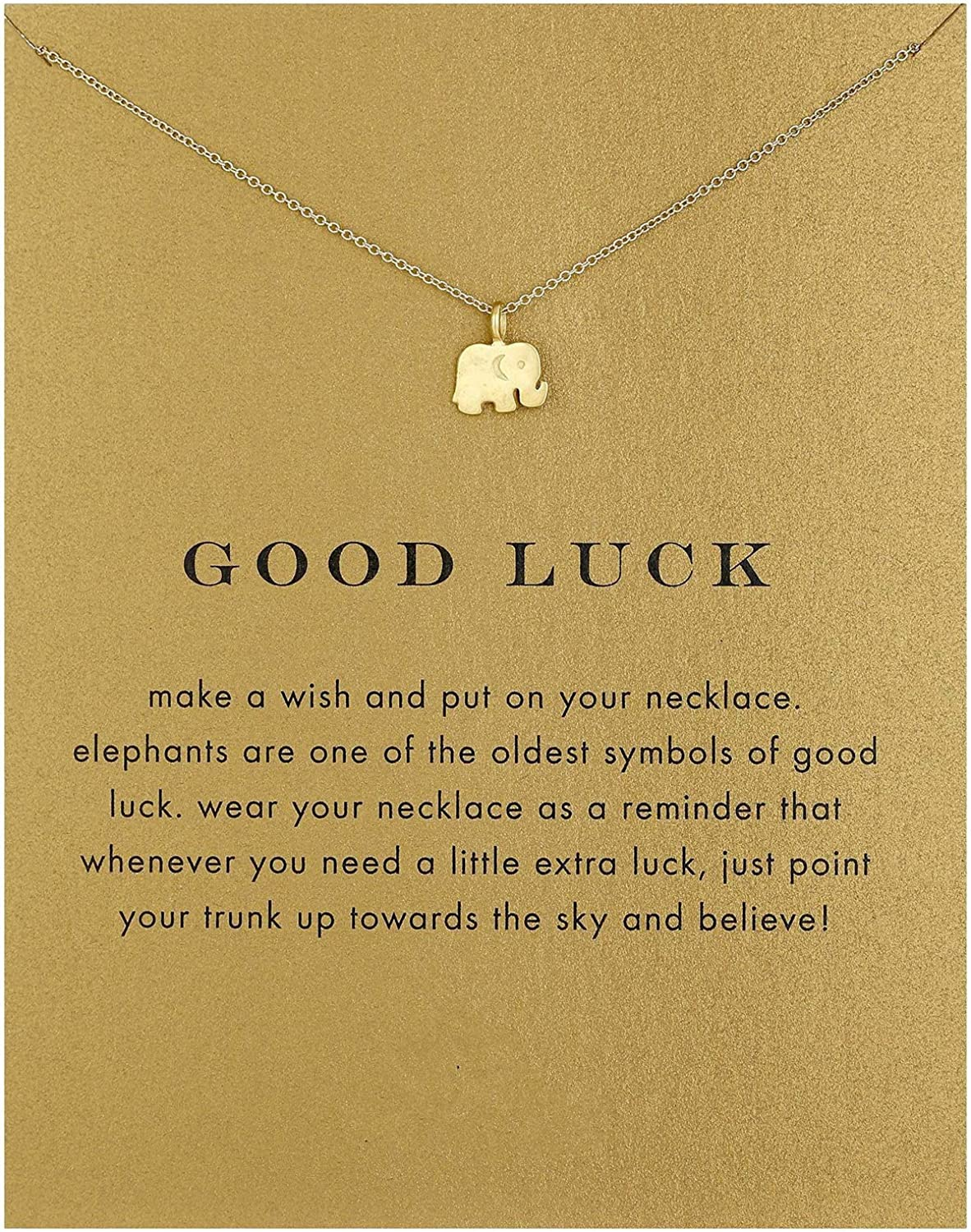 Dainty Lucky Elephant Horseshoe Clavicle Chain Key Angel Wing Hexagram Star Pendant Necklace Friendship BFF Jewelry