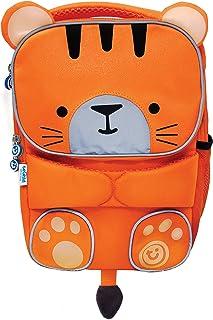 Mochila infantil para colegio de alta visibilidad- ToddlePak Tigre Tipu (Naranja)