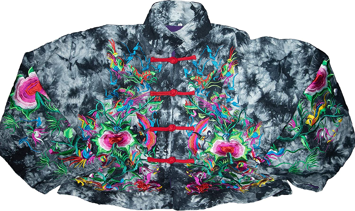 Propaganda slogan : Retro Ethnic Style , The Spring and Fall Period of Retro Quilted Coat , Loose and Casual , Embroidery and Bank with Button ,