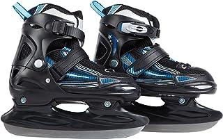 Ultrasport Patines de hielo con sistema de atado rápido y hebilla de bloqueo para una sujeción segura, resistentes al frío...