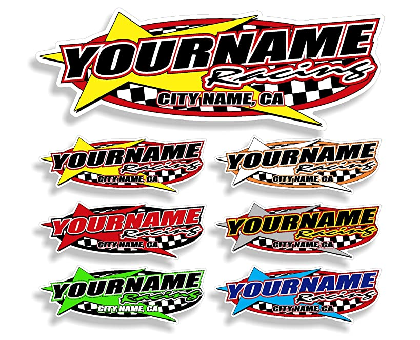 Custom Your Team Name Racing Trailer Decals   Your Name Trailer Stickers   Multiple Color & Size Options