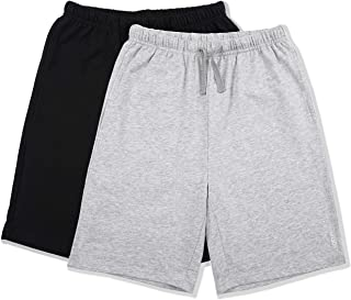 ALWAYSONE Kids Cotton Sweat Sport Shorts with Drawstring Soft Jersey Athletic Shorts for Boys and Girls 3-12 Years