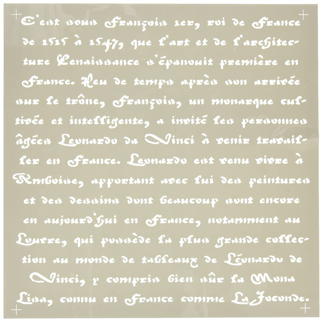 DecoArt Americana Decor Stencil, Old French Script