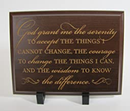 Serenity Prayer Wall Decor the Serenity Prayer God Grant Me the Serenity to Accept the Things I Cannot Change;courage to Change the Things I Can; and the Wisdom to Know the Difference (Cherry)
