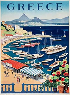 Best santorini vintage poster Reviews