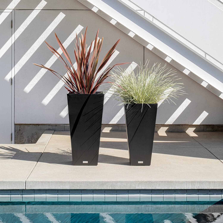 Buy Veradek V Resin Indoor/Outdoor Taper Planter, Set of 8 8 ...