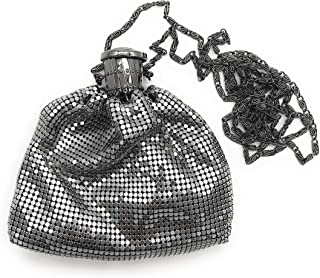 Womens clutch metal mesh evening purse (Not a small coin purse) for Cocktail Party Prom Wedding Banquet