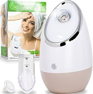 Facial Steamer SPA+ by Microderm GLO - Best Professional Nano Ionic Warm Mist, Home Face Sauna, Portable Humidifier Machin...