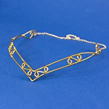 Declan tiara elfica vichinga in acciaio inossidabile oro