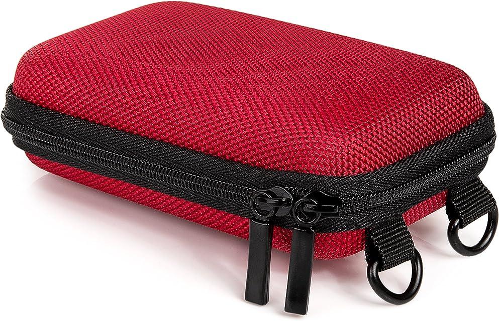 Baxxtar Pure S - Funda rígida para cámara digital (6 x 25 x 99cm) con trabilla para el cinturón y correa bandolera color rojo