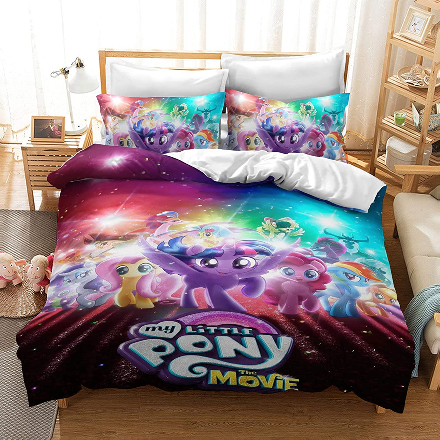 Cheap super special price Ntioyg Reversible Printing My Liltte Pony Cover Sets Milwaukee Mall bros Duvet