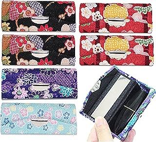 Set of 6~Cute Japanese Flower Style Lipstick Case Holder w Mirror Gift US Seller