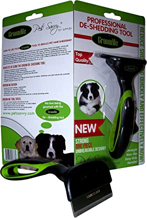 de Shedding Tool for Dog + Cat Grooming The Secret to Reducing Pet Shedding Quickly Up to 90% deshedder Tools for Dogs & Cats - Veterinary + Groomer Approved for All Pets