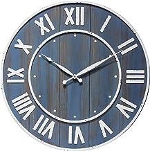 ساعة حائط من إنفينيتي إنسترومنتس مقاس 60.96 سم خشبية كبيرة الحجم لأعداد غرفة المعيشة مزرعة الريفية ديكور تعمل بالبطارية، ب...