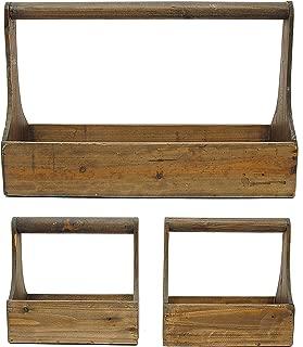 Creative Co-Op GRD1984 Decorative Wood Planter Basket Set