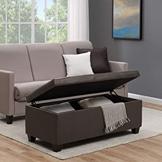 Handy Living Tufted Bench Storage Ottoman in Renu Brown