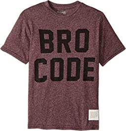Bro Code Short Sleeve Mock Twist Tee (Big Kids)