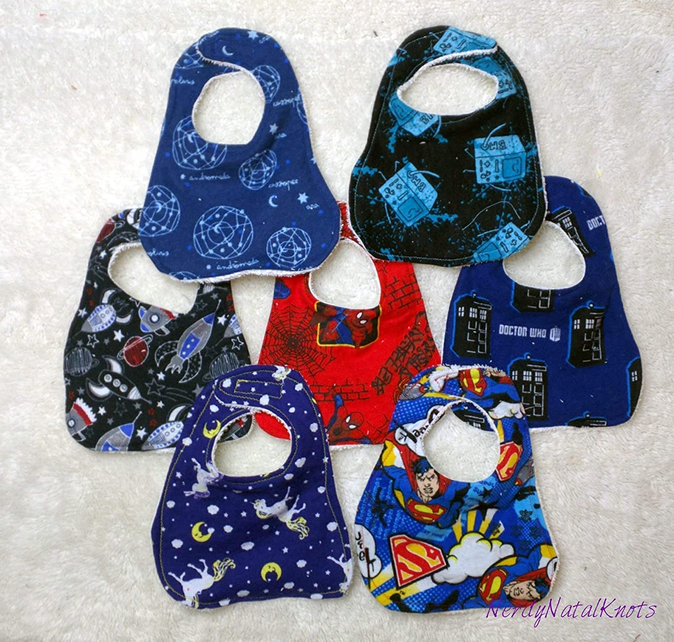 Geeky and Nerdy Baby Bib Mix and Match 3 Pack