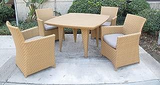 Outdoor Patio Resin Wicker Havana 5PC Dining Set 48