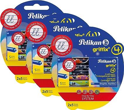 Pelikan 4001 Griffix Großraum Tintenpatronen 4 X 5 Stück Blisterpackung 20 Patronen Gesamt Bürobedarf Schreibwaren