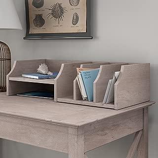 Bush Furniture Key West Desktop Organizer in Washed Gray