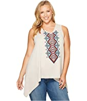 Roper - Plus Size 1105 Poly Rayon Heather Jersey Tank Top