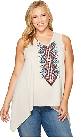 Plus Size 1105 Poly Rayon Heather Jersey Tank Top