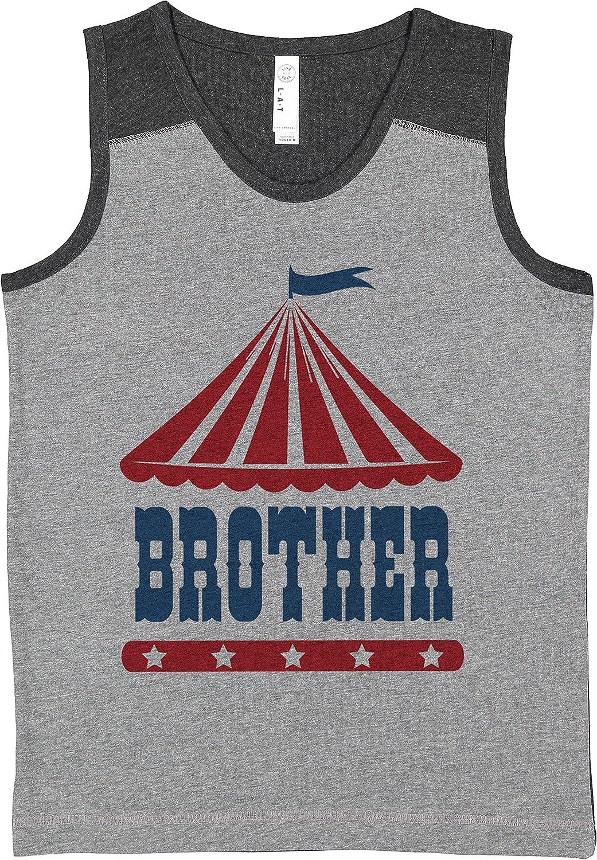 7 ate 9 Apparel Boy's Circus Brother Carnival Grey Contrast Tank Top
