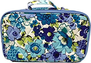 Vera Bradley Blush & Brush Makeup Case (Blueberry Blooms with Solid Blue Interior)