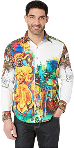 The Yaki Warrior Limited Edition Long Sleeve Woven Shirt