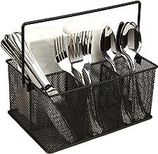 Mind Reader Storage Basket Organizer, Utensil Holder, Forks, Spoons, Knives, Napkins, Perfect for Desk Supplies, Pencil, P...