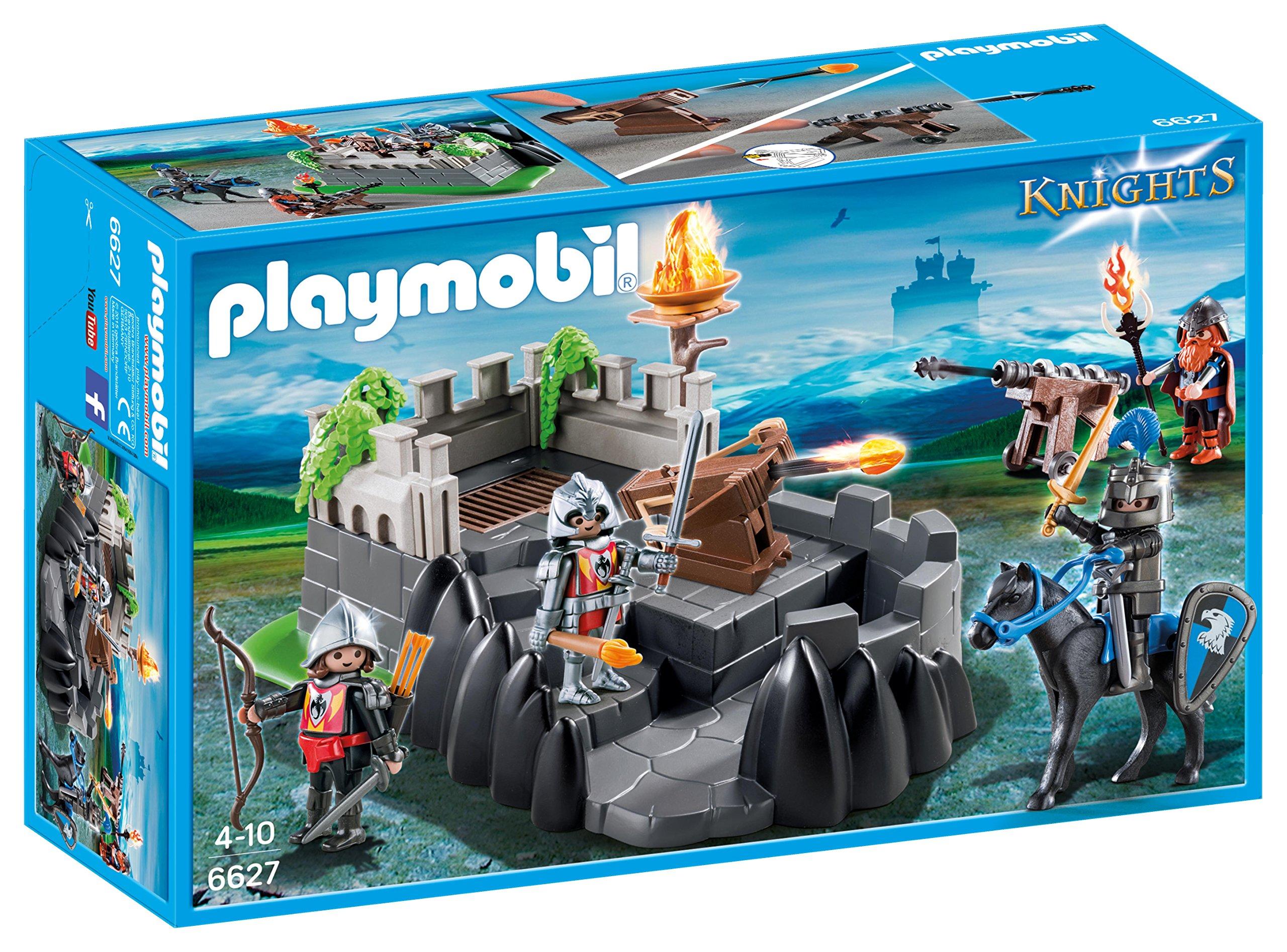 PLAYMOBIL Caballeros- Dragon Knights Fort Playset, Multicolor, Miscelanea (6627): Amazon.es: Juguetes y juegos