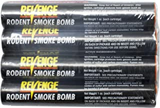 Bonide (BND61110) - Revenge Rodent Smoke Bombs, Mole and Gopher Killer, Poison, Repellent, Trap (4 Pack)