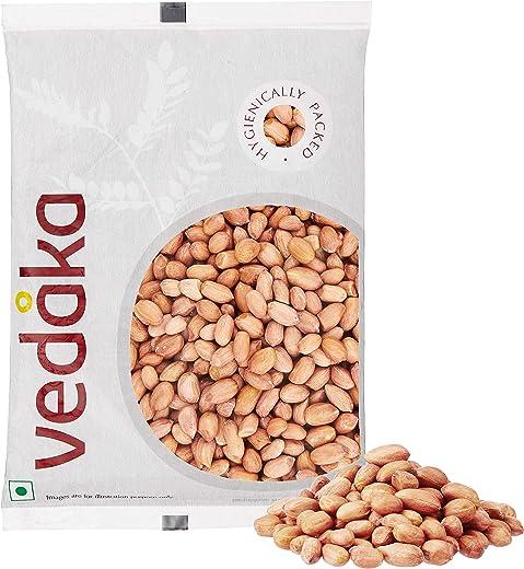 Amazon Brand - Vedaka Raw Peanuts, Pink, 1kg 1