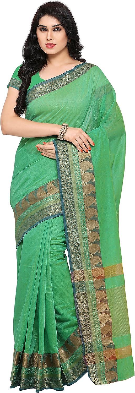 Kvsfab Women's Traditional Cotton Silk Saree [KVSSR20021_SHIMAYA]