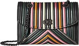 COACH - Color Block Quilting with Rivets Parker Shoulder Bag