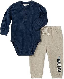 Quiksilver Baby Boy's 2 Pieces Creeper Pants Set Pants, multi, 0-3 Months