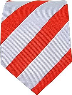 College Striped Ties for Men - Woven Necktie - Mens Ties Neck Tie by Scott Allan