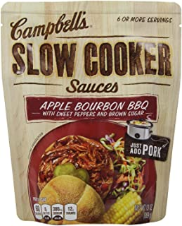Campbell's Slow Cooker Sauces: Apple Bourbon Pulled Pork (2 Pack) 13 oz Bags