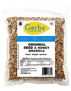 GERBS Original Seed n' Honey Granola, 64 ounce Bag, Top 14 Food Allergy Free, NON GMO