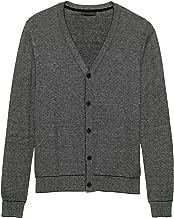 Banana Republic Men's Birdseye Cardigan Sweater Heather Black