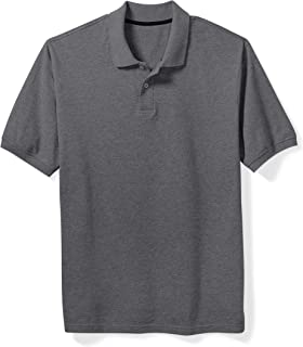 Amazon Essentials Men's Big & Tall Cotton Pique Polo Shirt fit by DXL