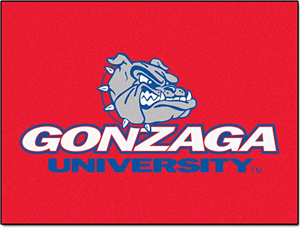 FANMATS NCAA Gonzaga University Bulldogs Nylon Face All-Star Rug
