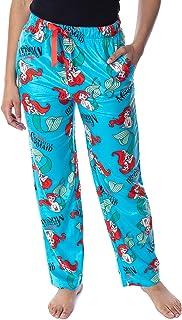 Disney Women's Little Mermaid Ariel Fleecy Soft Loungewear Sleep Pajama Pants