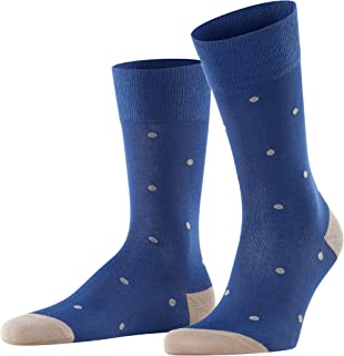 FALKE Men's Dot Socks Cotton Blue Grey More Colours Thin Light Colourful Calf Socks Patterned For All Occasions Work Or Ca...