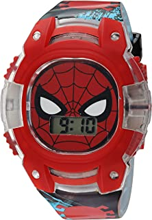 Marvel Boys' Quartz Plastic Strap, Black, 15 Casual Watch (Model: SPD4474