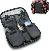 USA Gear Vape and Accessory Carrying Case - Premium E-Cigarette Vape Mod Travel Pen Large Organizer - Compatible with Innokin, Janty, Halo Cigs, 777 E-Cigs and More Electronic Cigarettes - Floral